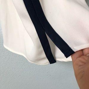 Nasty Gal Tops - Nasty Gal • White Tie Back Tank Top Navy Trim NWT